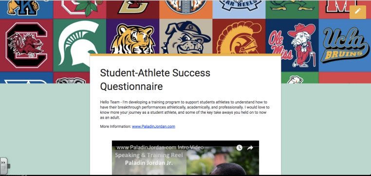 Student Athlete Success Questionnaire Paladinjordan.com skoolhaze.com